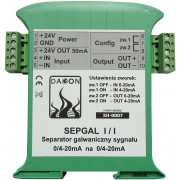 Separator Galwaniczny sygnału prądowego 0/4..20mA - SEPGAL I/I