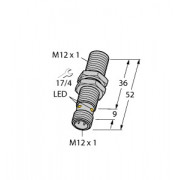 Czujnik, indukcyjny BI4-M12-AP6X-H1141, PNP, NO, M12, 4 mm, 46070