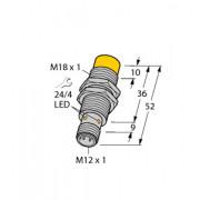 Czujnik, indukcyjny z rozszerzonym zakresem detekcji NI14-M18-AP6X-H1141, PNP, NO, M18, 14 mm, 4611400