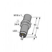 Czujnik, indukcyjny z rozszerzonym zakresem detekcji BI8-M18-AP6X, PNP, NO, M18, 8 mm, 4615030