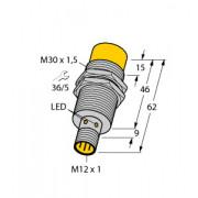 Czujnik, indukcyjny z rozszerzonym zakresem detekcji NI20-M30-AP6X-H1141, PNP, NO, M30, 20 mm, M12, 4670510